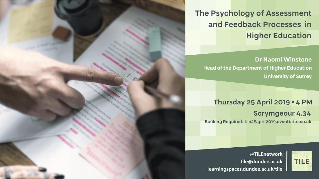 TILE Talk | April 2019 | Dr Naomi Winstone
