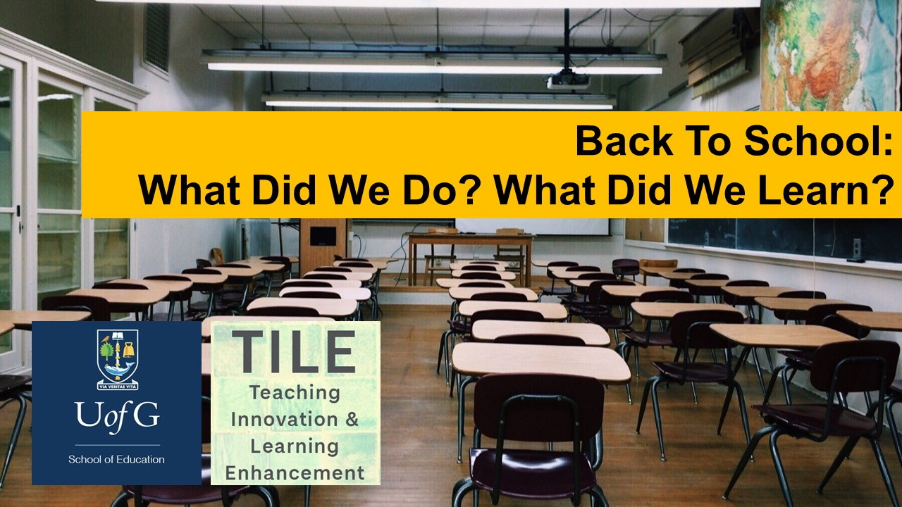 Back To School Webinar: What Did We Do? What Did We Learn? – A Summary